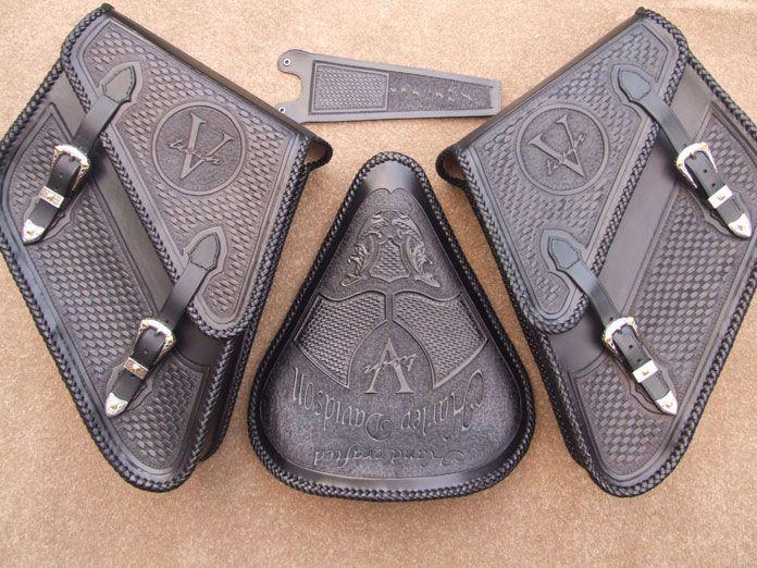 Custom made leather motorcycle seats #harleydavidsonstreet750accessories