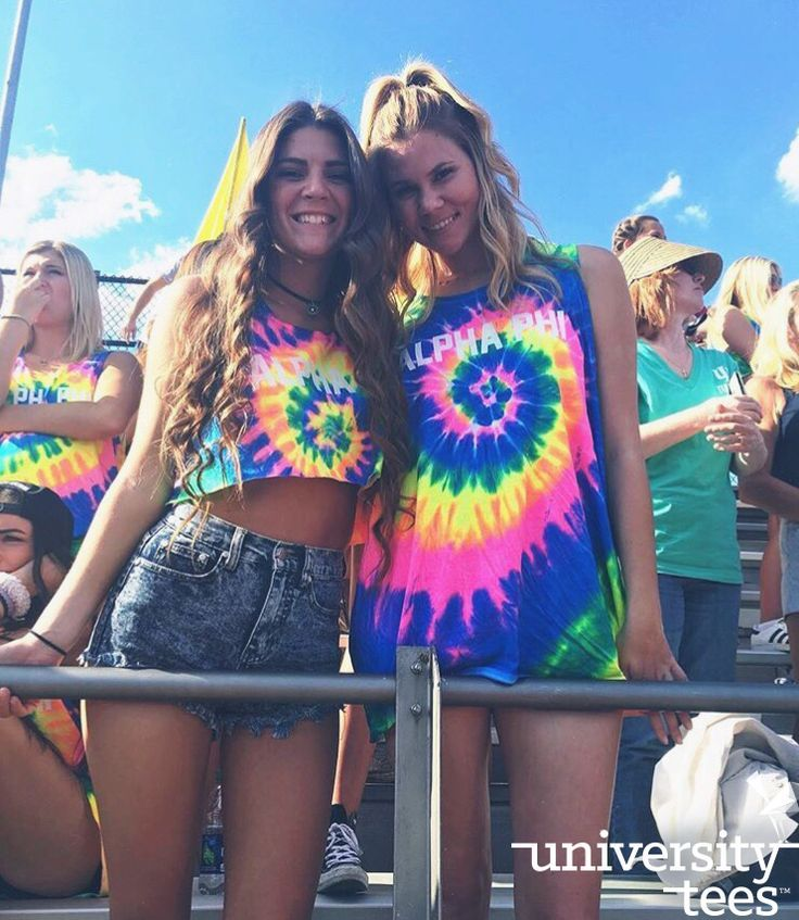 Tie-dye and sunshine   Alpha Phi   Made by University Tees   www.universitytee...