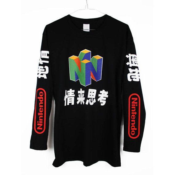 N64 Long Sleeve T Shirt Tee