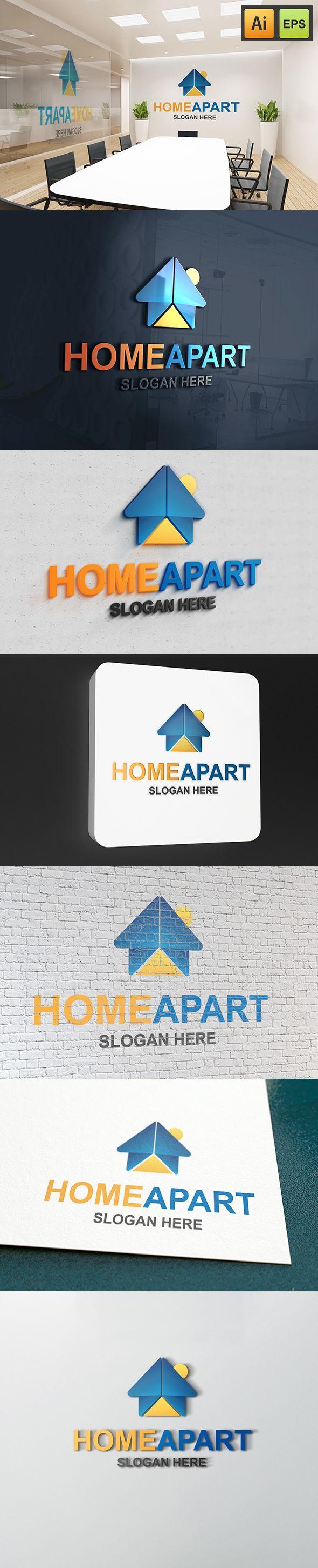 """@Behance projeme göz atın: """"Home Apart Logo""""…"""