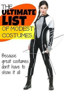 I love this list of cute, clever, and MODEST Halloween costume ideas! So many great Women's Halloween costume ideas.