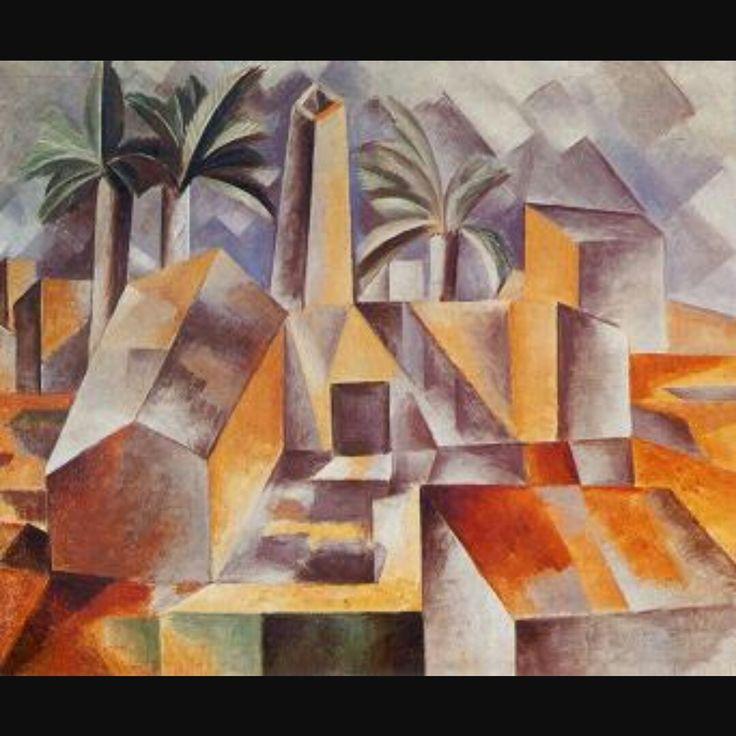 Braque •De vormen zijn hoekig en kubusachtig •Het schilderij is een plat vlak bedekt met lijnen vormen en kleuren •Verschillende standpunten in 1 beeld •Lichtval vanuit verschillende kanten
