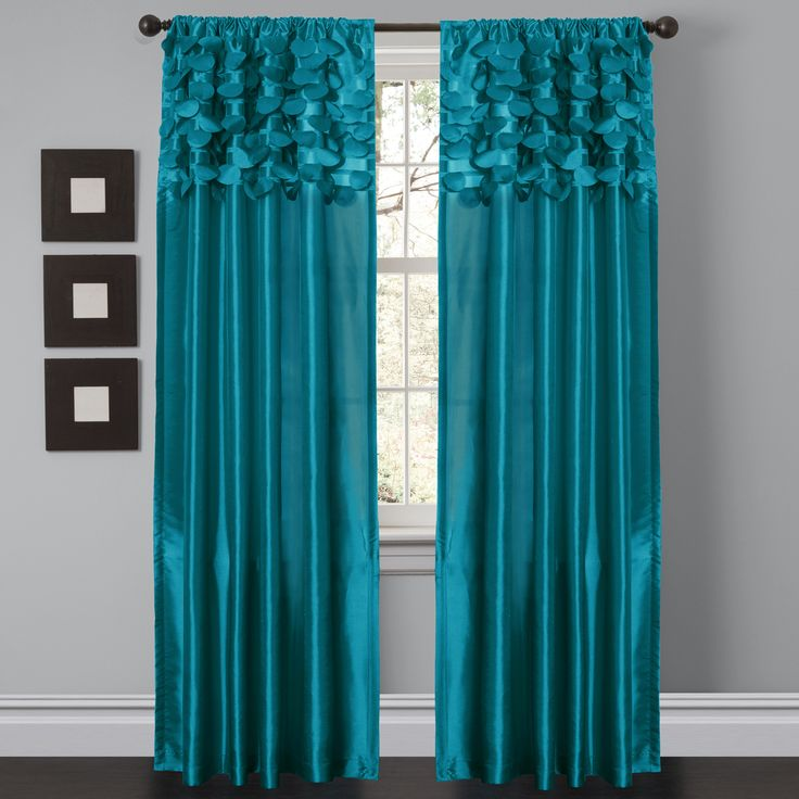 """Circle Dream taffeta window curtains feature circular motifs which create a chic 3D look. - Includes: 2 Panels - Each panel: 84""""H x 54""""W - Fabric Content: 100% Polyester - No Lining - 3"""" Rod Pocket -"""