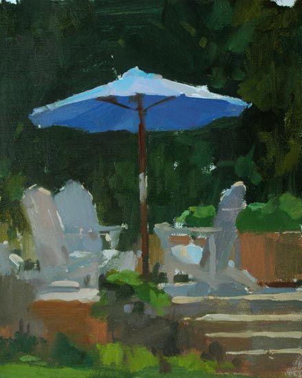 nh blue umbrella 10x8sm by Colin Page