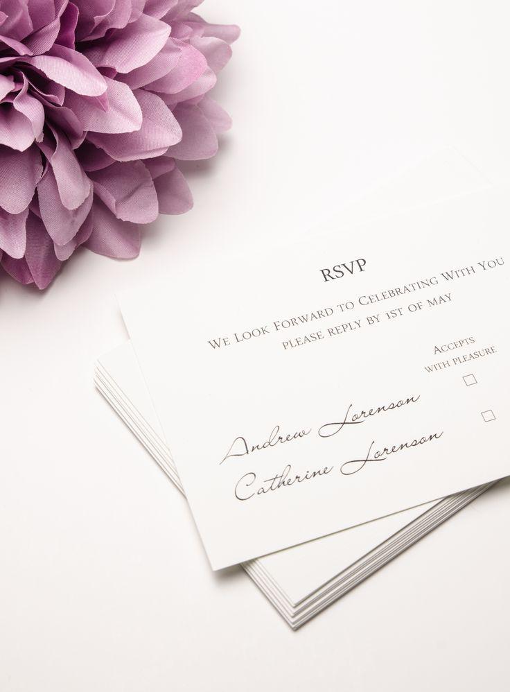 RSVP cards #wedding #weddingstationery #RSVP #purple #weddingplanning #daisy