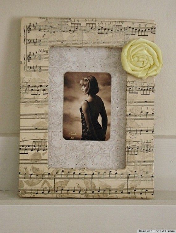 PHOTOS: 7 Ways To Repurpose Sheet Music. Easy Craft ...