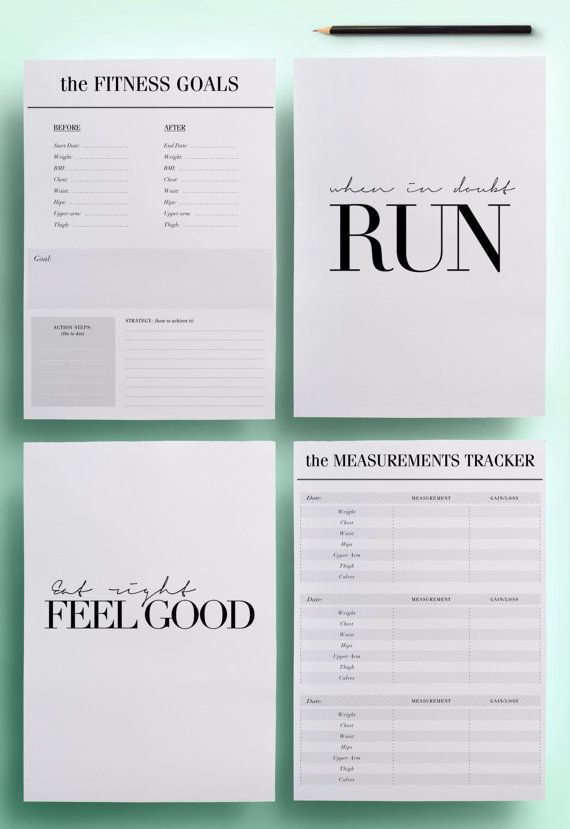 A4 Health and Fitness Planner Pack Fitness by CrossbowPrintables