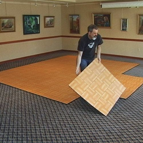 Portable Dance Floor Tile 9 Tiles Outdoor 3x3 Installation.