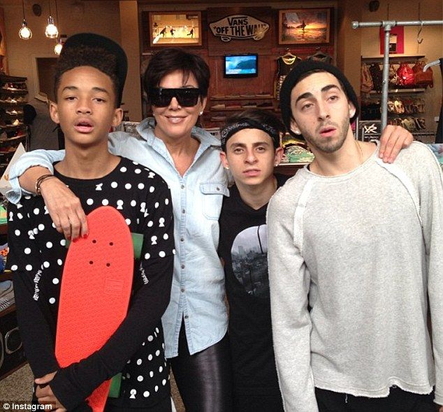 Show of support: Mom Kris Jenner  has been active in branding her daughters talent. Kylie Jenner and Kendall Jenner friends are Jaden Smith, Moises Arias and Mateo Arias  Read more: http://www.dailymail.co.uk/tvshowbiz/article-2322905/Kylie-Kendall-Jenner-follow-steps-Kardashian-sisters-debut-new-clothing-line-PacSun.html#ixzz2TCUdVXAZ  Follow us: @MailOnline on Twitter | DailyMail on Facebook
