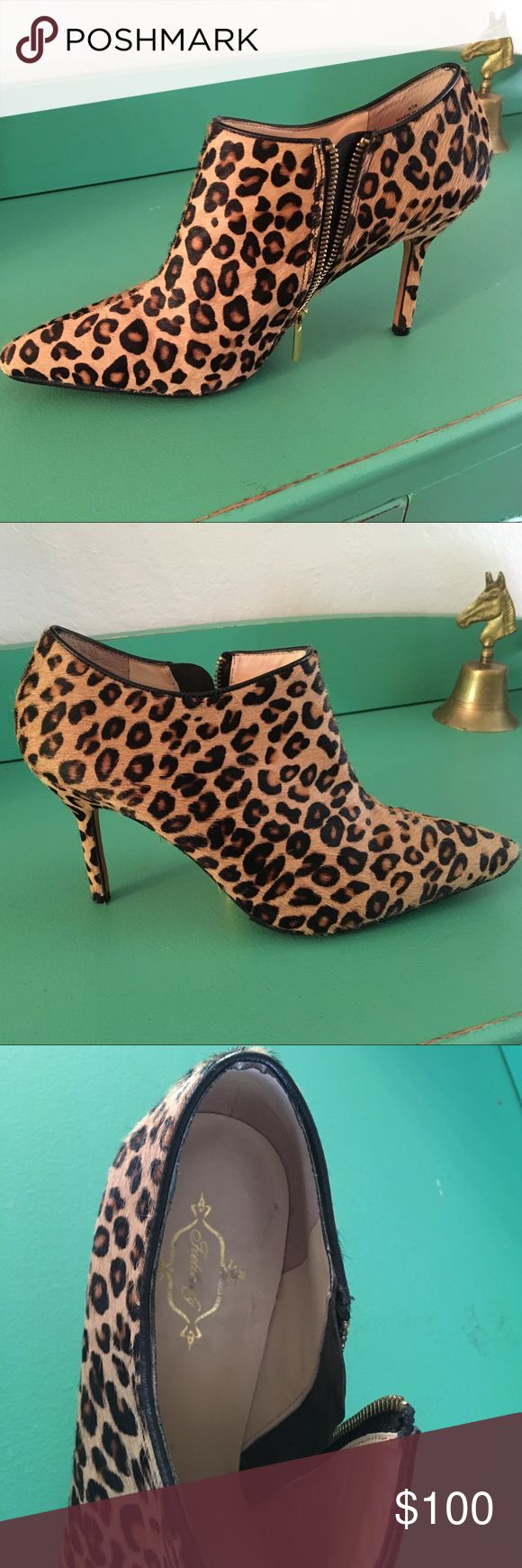 Footcandy cheetah heels Barely worn, beautiful shoes. Run a little small and narrow. Footcandy Shoes Heels
