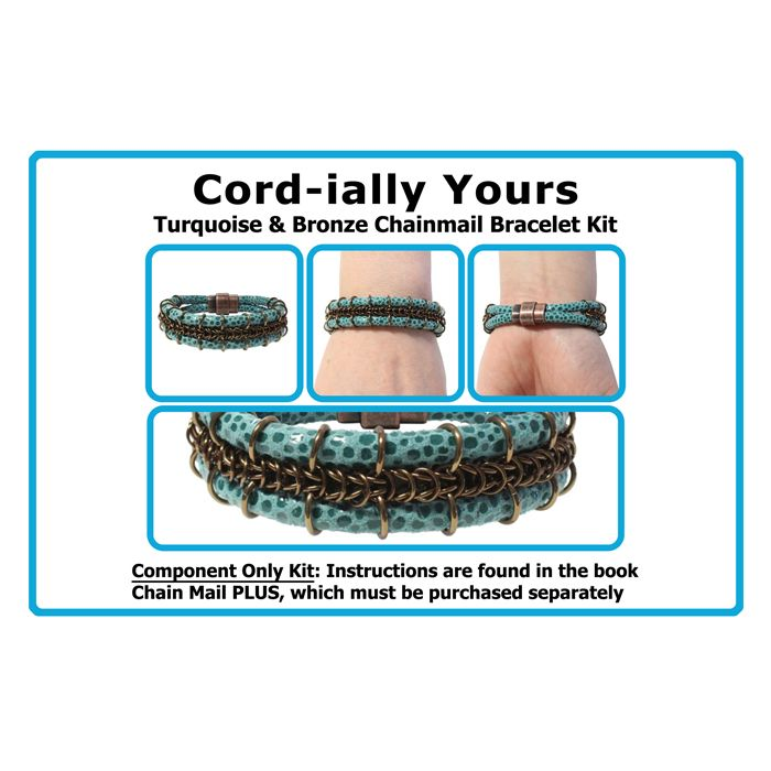 Kit for Cord-ially Yours Bracelet - Turquoise & Bronze