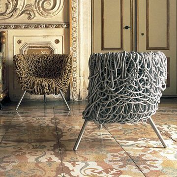VERMELHA ARMCHAIR  Designed by Campana Brothers  Manufactured by Edra | Luxury Interiors, luxury furniture, designer furniture, high end furniture, home design,  For more inspirations: http://www.bocadolobo.com/en/inspiration-and-ideas/