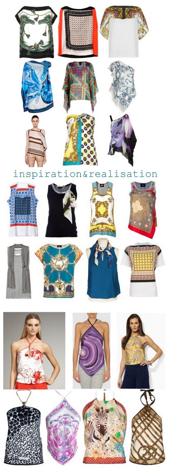 inspiration and realisation: DIY Fashion + Home: wear a scarf and DIY round-up