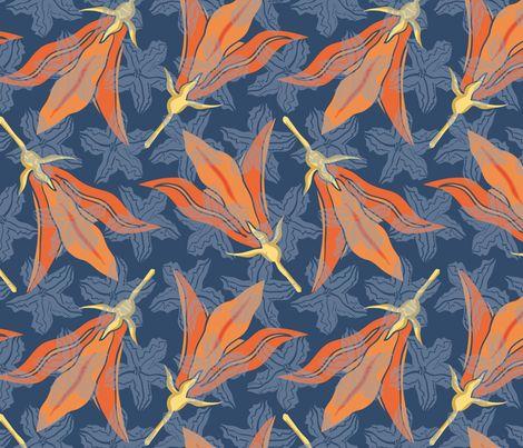 Brocade Blue fabric by mezzones on Spoonflower - custom fabric