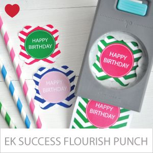 EK Success Cupcake topper pons - flourish vierkant