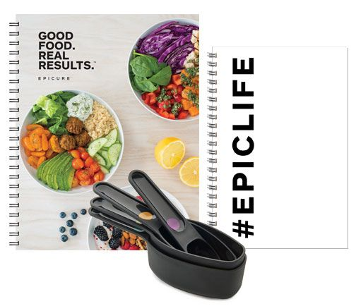 The Good Food. Real Results.™ Guide, Journal, and Perfect Portion Scoops are three products that have been designed to work together specifically for the Good Food. Real Results. program. Together they change the game; they are proven tools that set you up for success and ensure long-term results. Includes: REAL RESULTS JOURNALPERFECT PORTION SCOOPSREAL RESULTS GUIDE #goodfoodrealresults