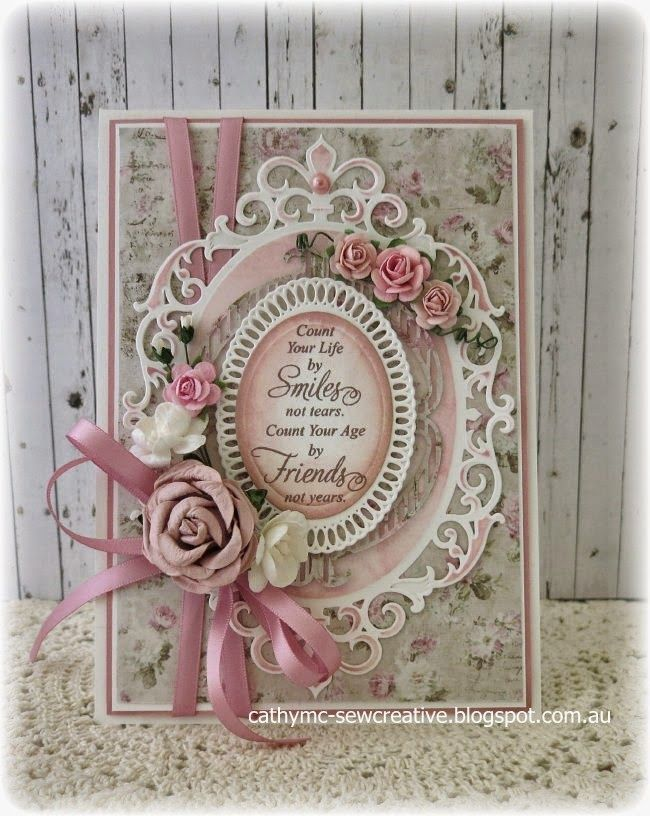 Hello everyone! Today I am sharing a card that I have created using paper from the Vintage Summer Basics Collection. I love using dies when creating cards and I have had this card planned in my head f