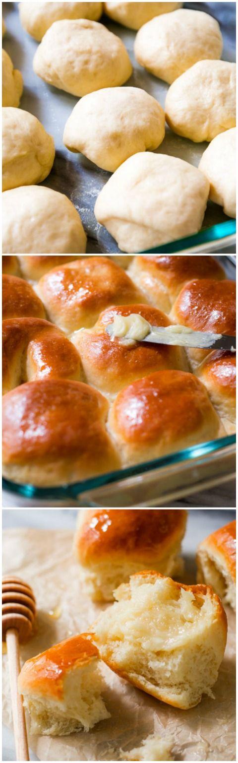 Honey Butter Rolls by sallysbakingaddiction: Classic, soft, fluffy, made from scratch. #Rolls #Honey #Butter