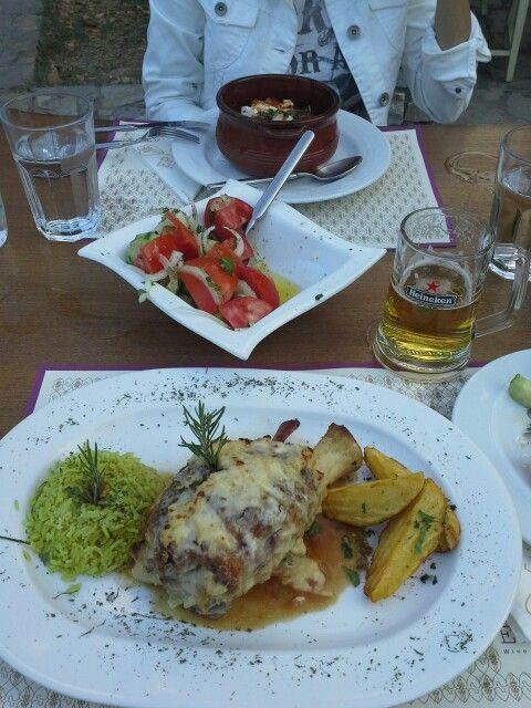 #kotsi #lamp #litohoro #olympus #localfood #greekFood #greece #travel_food