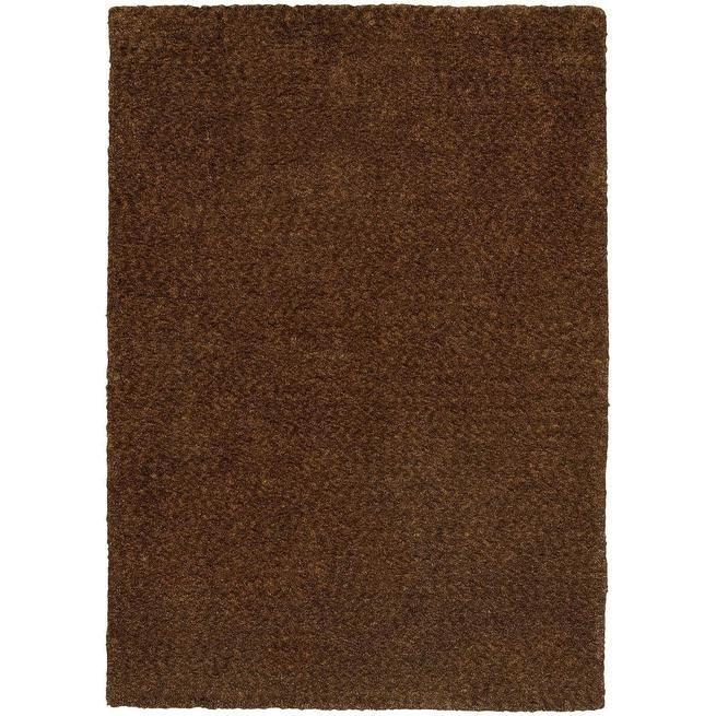 Heavenly 73404 Brown Shag Rug by Oriental Weavers