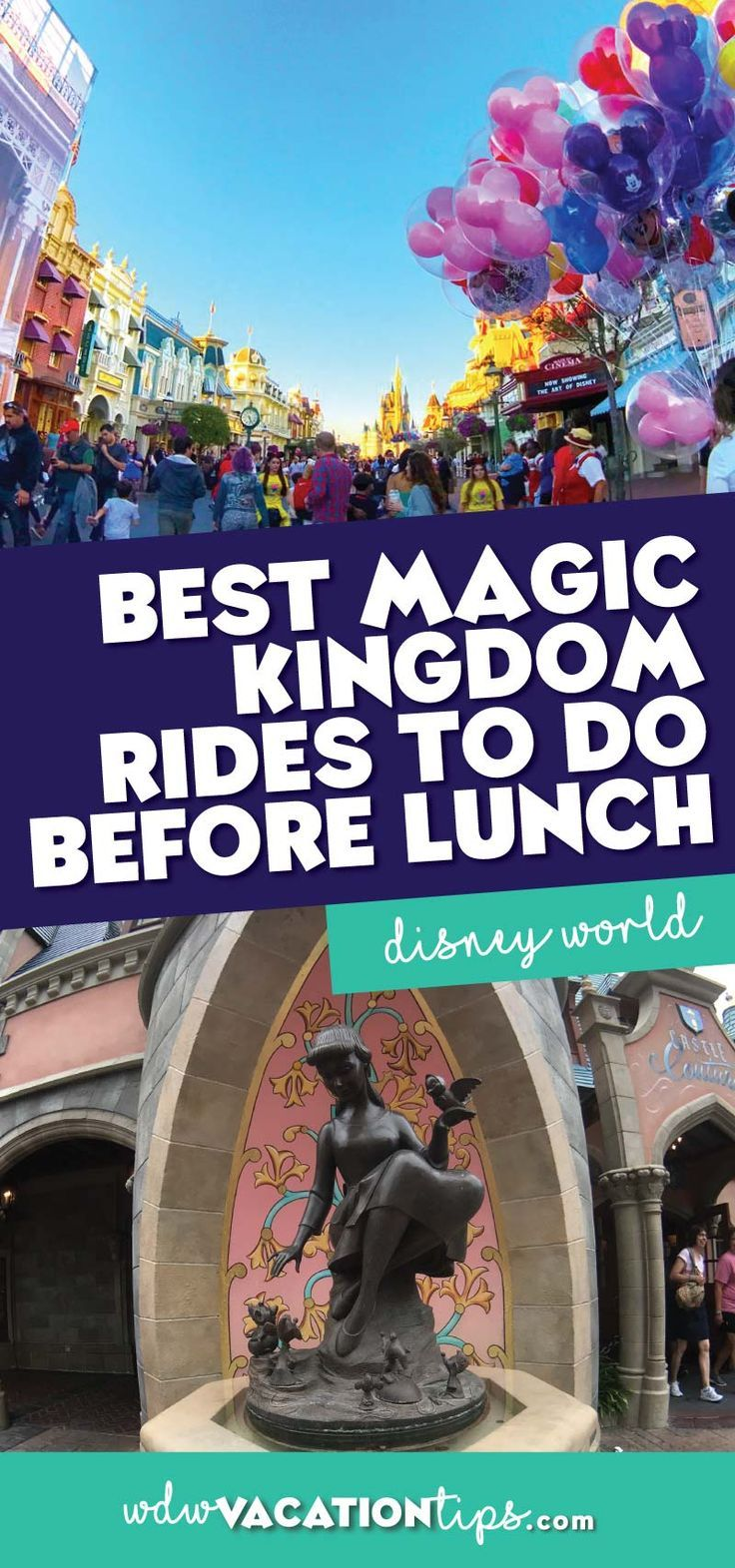 If you are limiting it to one day at the Magic Kingdom here is our recommendation of Magic Kingdom rides to do before lunch. So you can get more done in less time at Disney World!
