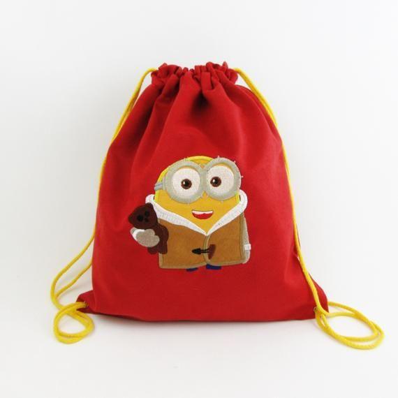 Worek Z Minionkiem Plecak Z Minionkiem Z Minionkiem Plecak Przedszkolaka Worek Przedszkolaka Worek Z Imieniem Plecak Bags Baby Gifts Drawstring Backpack