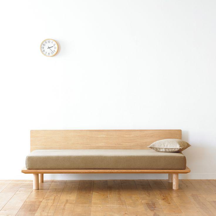 綿平織木製ソファフレーム用カバー/ベージュ 幅202×奥行87.5×高さ76cm | 無印良品ネットストア