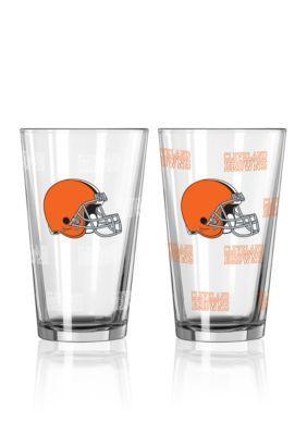Boelter  16-Oz. Nfl Browns 2-Pack Color Change Pint Glass Set - Licensed Team Colors - One Size