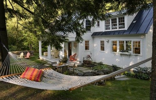 A sweet outdoor space - traditional - exterior - other metros - Smith & Vansant Architects PC: Idea, Architects Pc, Vansant Architects, Traditional Exterior, Backyard, House, Outdoor Spaces, Hammock, Photo