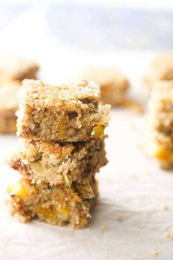 These fruit and nut quinoa bars are packed with apricots, dates, walnuts, seeds, almonds and coconut. A great high protein snack for kids and adults.