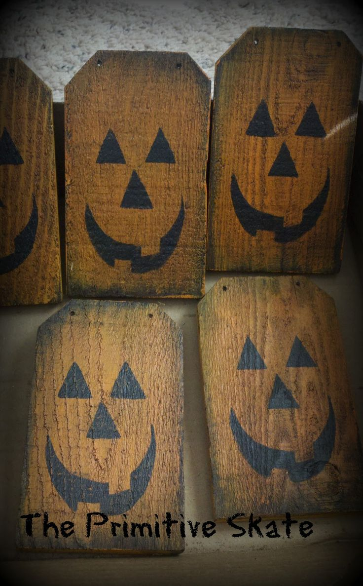 Primitive fall wood crafts - The Primitive Skate Repurposing Edging Into Pumpkins Fall Craftshalloween