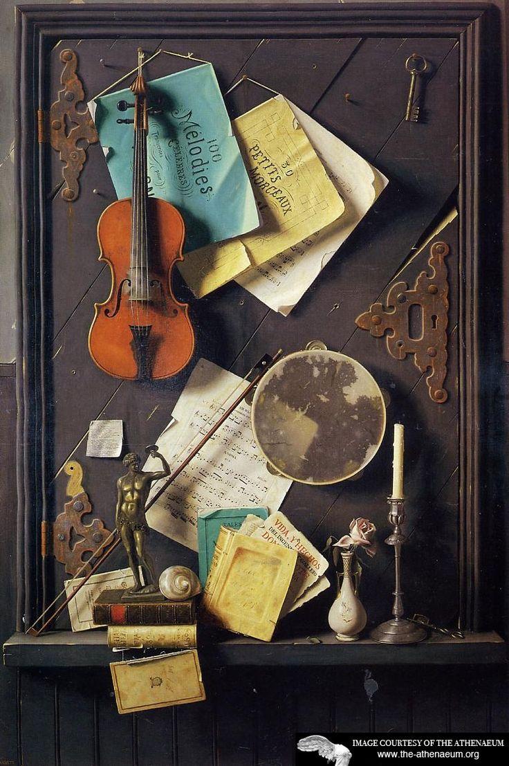 William Harnett - The Old Cupboard Door