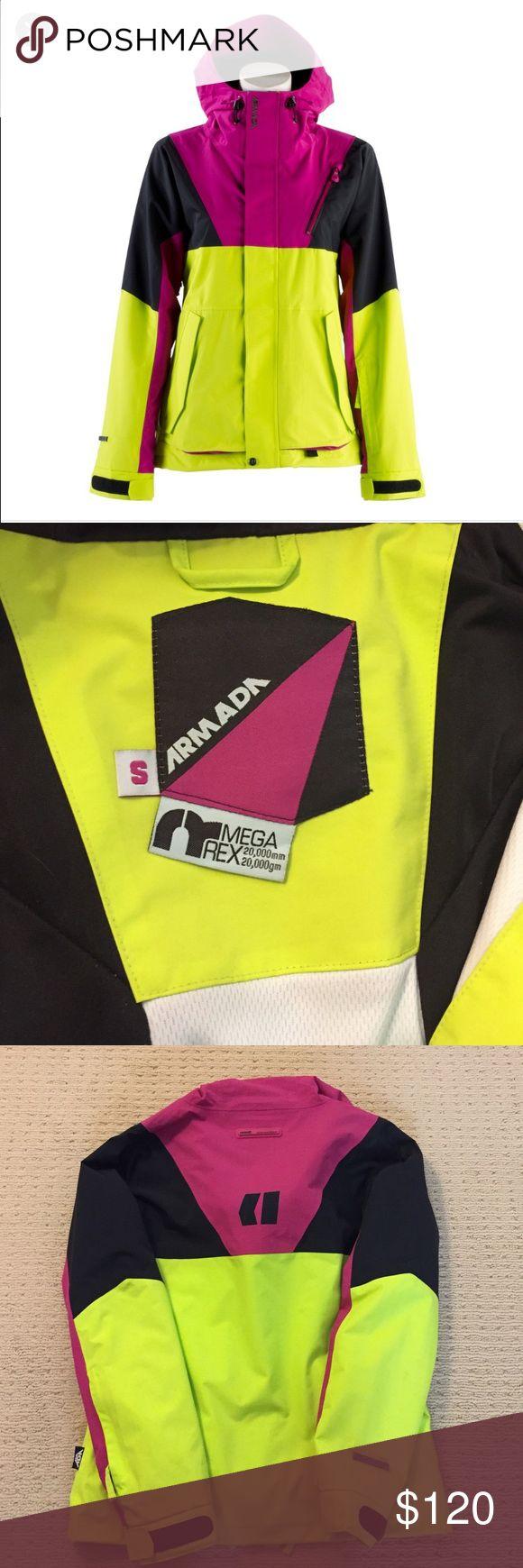 Armada Ski Jacket - SZ S - Great Condition. Armada Ski Jacket - Black, Pink, Yellow - S - Great Condition. Armada Jackets & Coats