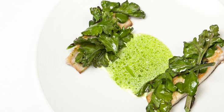 Christoffer Hruskova shares a stunning recipe for pan-fried grey mullet with nettle emulsion and parsley sauce