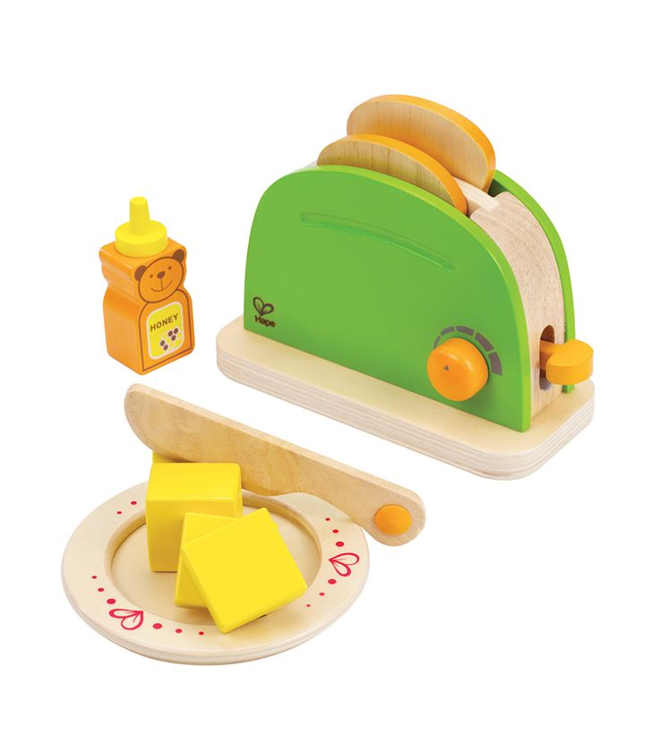 Making toast is easy withthis double-slice toaster. A pat of butter and a dab of honey finish the job. Includes