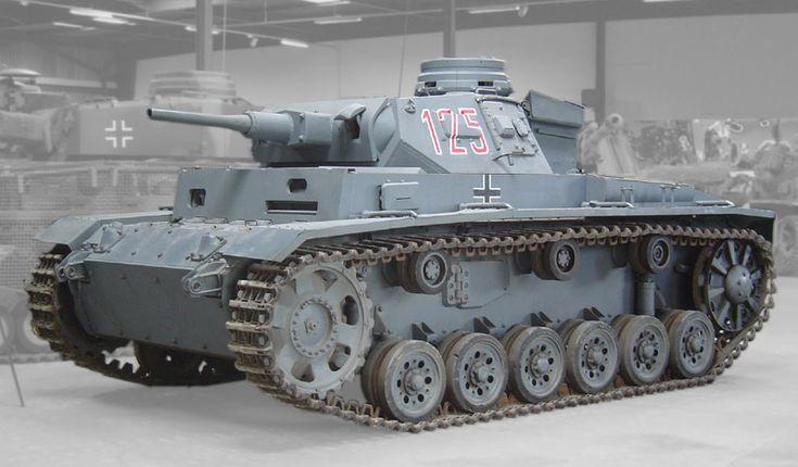 Panzerkampfwagen III Sd Kfz. 141 was a medium tank developed in the 1930s aurmor 5–70 mm (0.20–2.8 in) Main armament 1 × 3.7 cm KwK 36 Ausf. A-F 1 × 5 cm KwK 38 Ausf. F-J 1 × 5 cm KwK 39 Ausf. J¹-M 1 × 7.5 cm KwK 37 Ausf. N Secondary armament 2-3 × 7.92 mm Maschinengewehr 34 Engine 12-cylinder Maybach HL 120 TRM 300 PS (296 hp, 220 kW) Power/weight 12 hp/t Suspension Torsion-bar suspension Operational range 155 km (96 mi) Speed Road: 40 km/h (25 mph) Off-road: 20 km/h (12 mph)