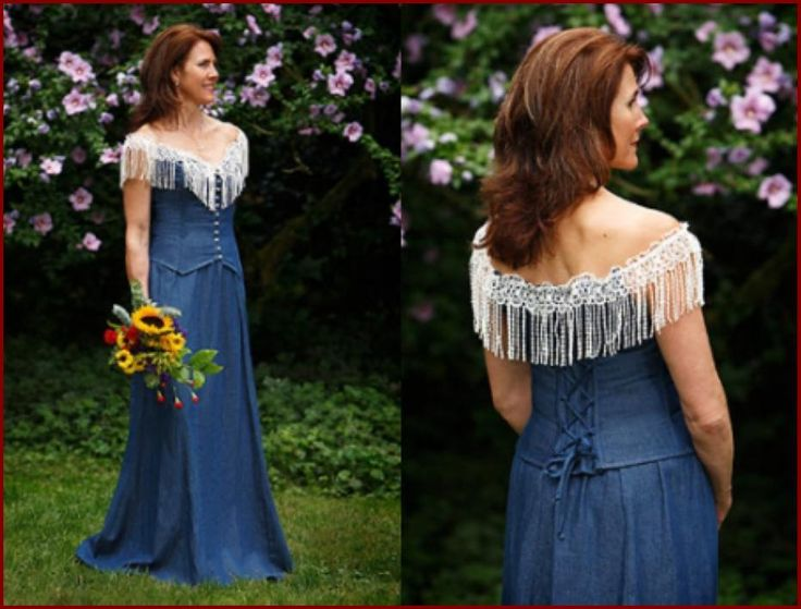Blue Jean Wedding Dresses : Denim wedding dress allisons