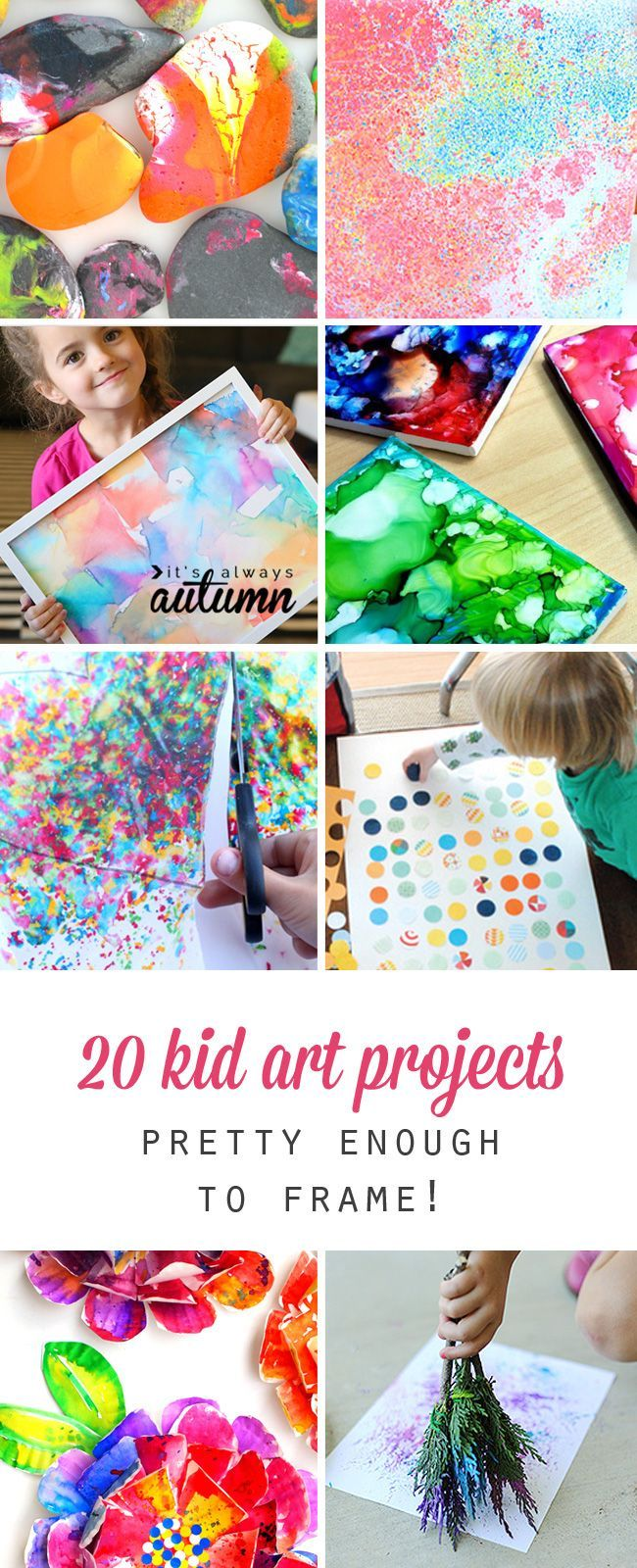 Unique Craft Ideas For Kids Part - 23: 20 Kid Art Projects Pretty Enough To Frame