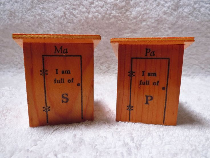 Wood Outhouses Salt and Pepper Shakers Labeled Ma & Pa - Aberdeen,MD