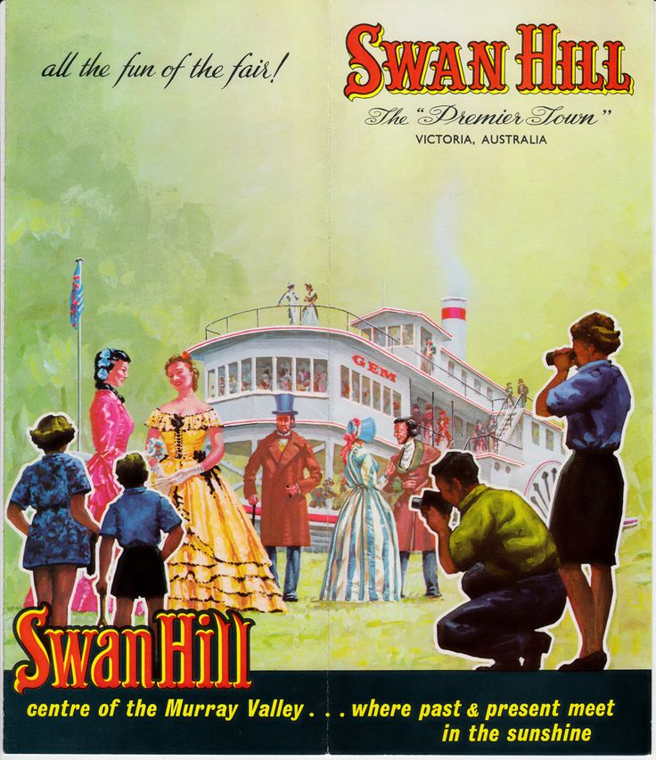The Gem featuring in an advertising brochure for Swan Hill; date unknown
