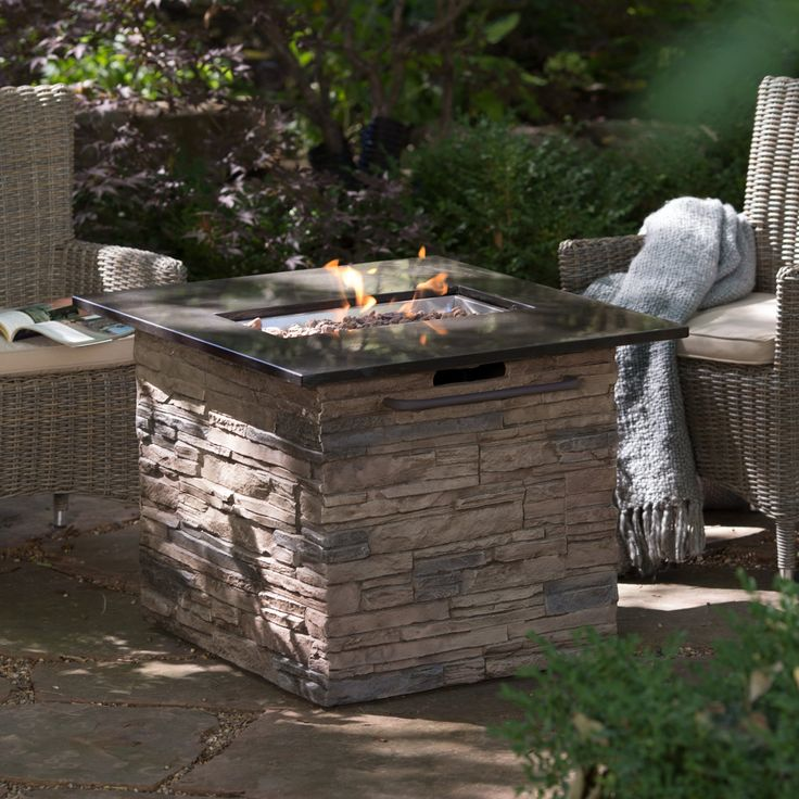 Red Ember Coronado Gas Fire Pit Table with FREE Cover - Fire Pits at Hayneedle