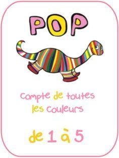 dinosaures : Pop compte de toutes les couleurs