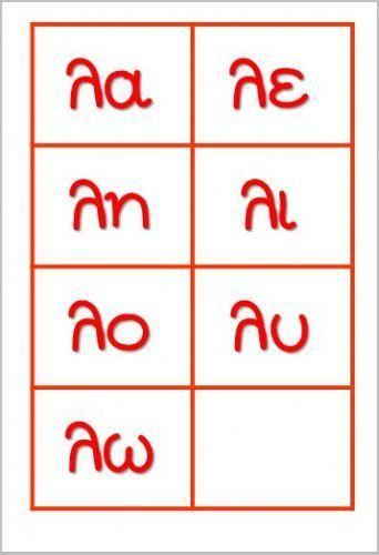 κάρτες με συλλαβές που ξεκινούν από το γράμμα λ