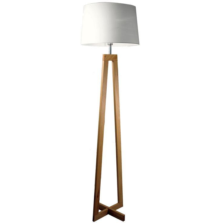 lampadaire bois sacha blanc d co int rieur pinterest. Black Bedroom Furniture Sets. Home Design Ideas