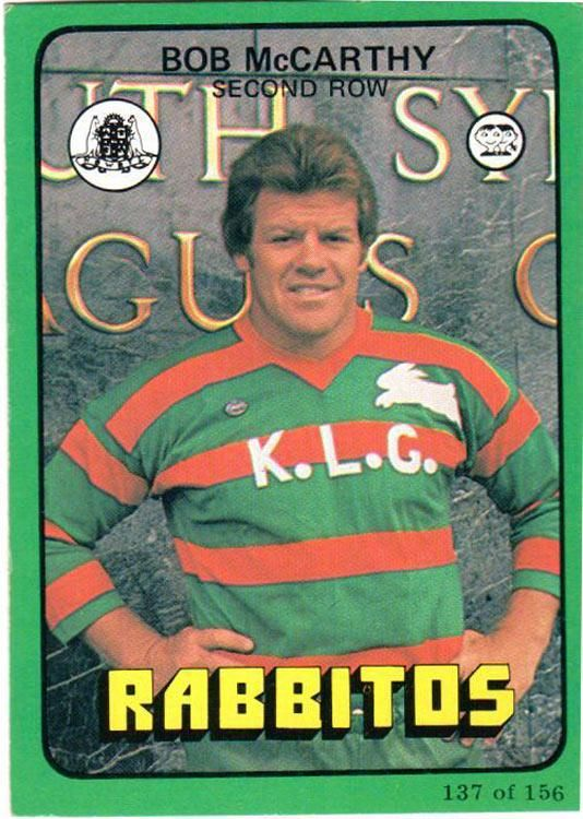 Here's Bob McCarthy on his victory lap tour of Souths in 1978 outside the club. Was he a 'Cellarman' like the rest?