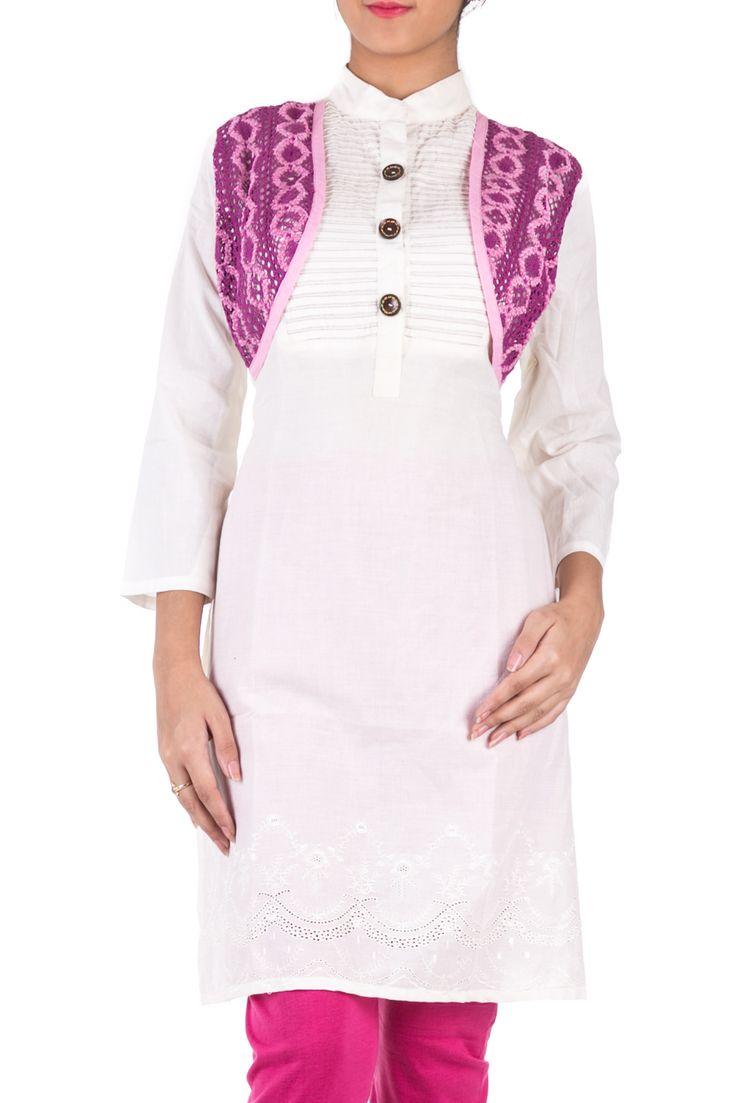 Total Comfort - White Kurtas & Kurtis for Women online in India. www.hakoba.in