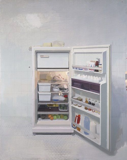 Antonio López García NEW REFRIGERATOR  1991-94 oil on canvas 94x74""