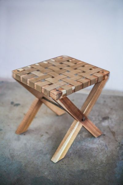 Brown Riempie Stool from APlace