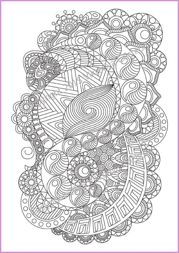 zentangle coloring pages for adults - photo#21