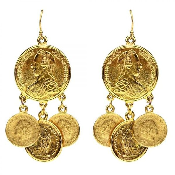Moroccan coin drop earrings (45.405 HUF) ❤ liked on Polyvore featuring jewelry, earrings, dangle charms, earring charms, 24k earrings, charm jewelry and bohemian earrings